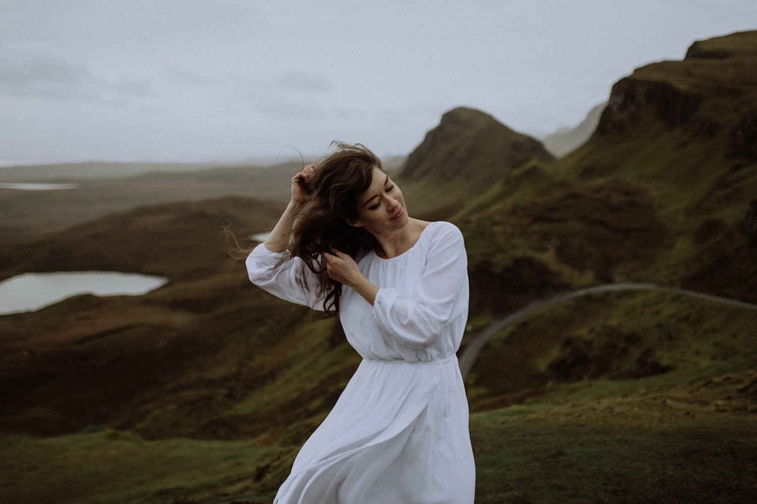 Windy elopement from the Isle of Skye.