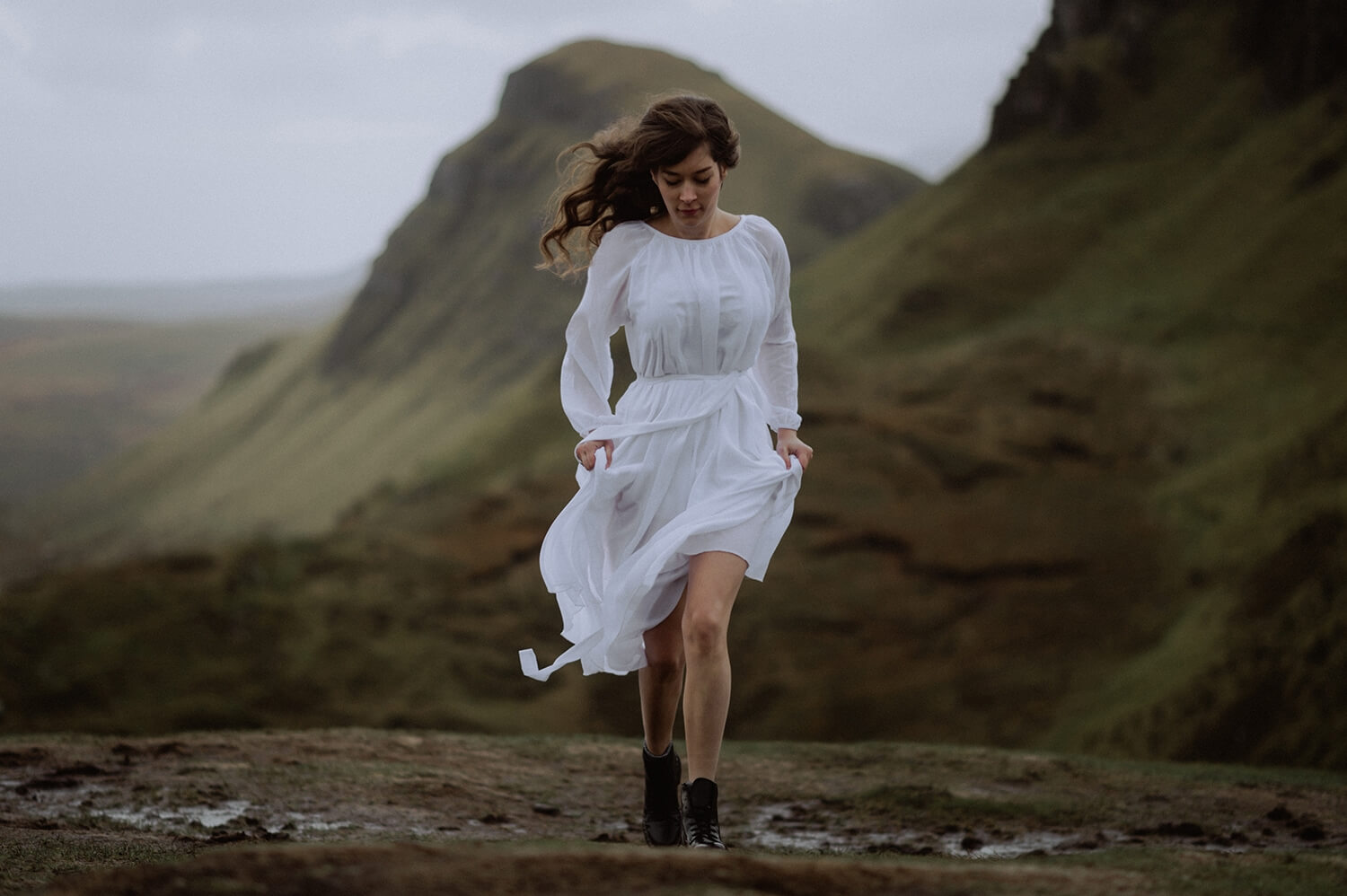 Long hair bride from the Isle of Skye.