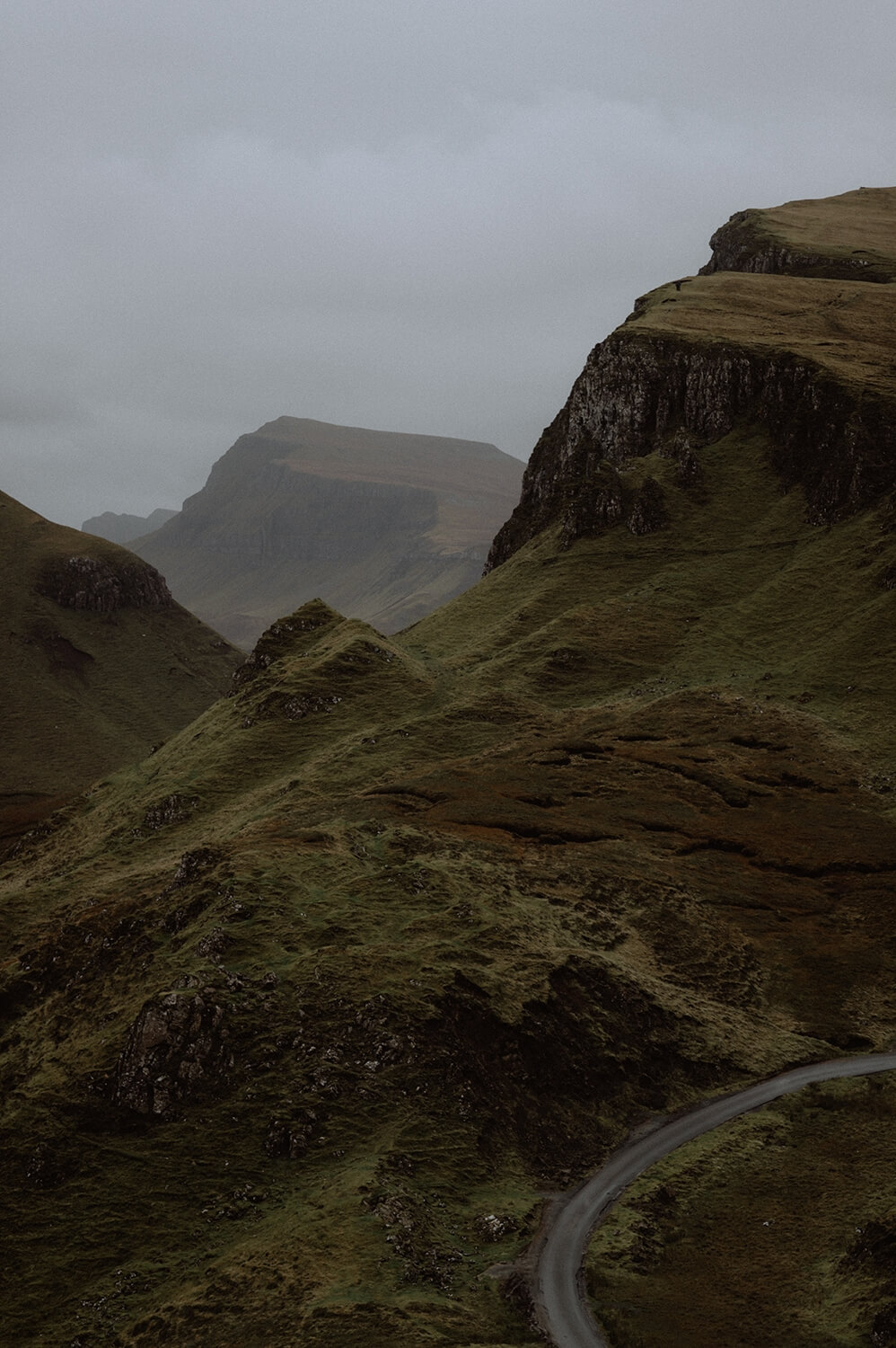 The Quiraing walk in Scotland.